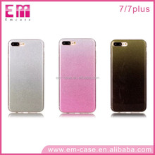 Hot Sale IMD Gradient Glitter Powder TPU Cell Phone Case For iPhone5 6 6plus 7plus