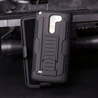 Robot Kickstand Pc Silicon Belt Clip Case For Lg Ls720 Optimus F3