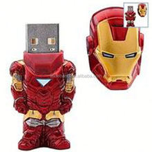 iron man 256gb usb flash drive made in china for gift