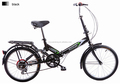 "2015 New Folding Bicycle Black 20"" Aluminum Floding Bike"
