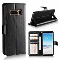 Hot Selling Crazy Horse Phone Wallet Case Leather Cover For Samsung Galaxy Note 8 Note8 Case