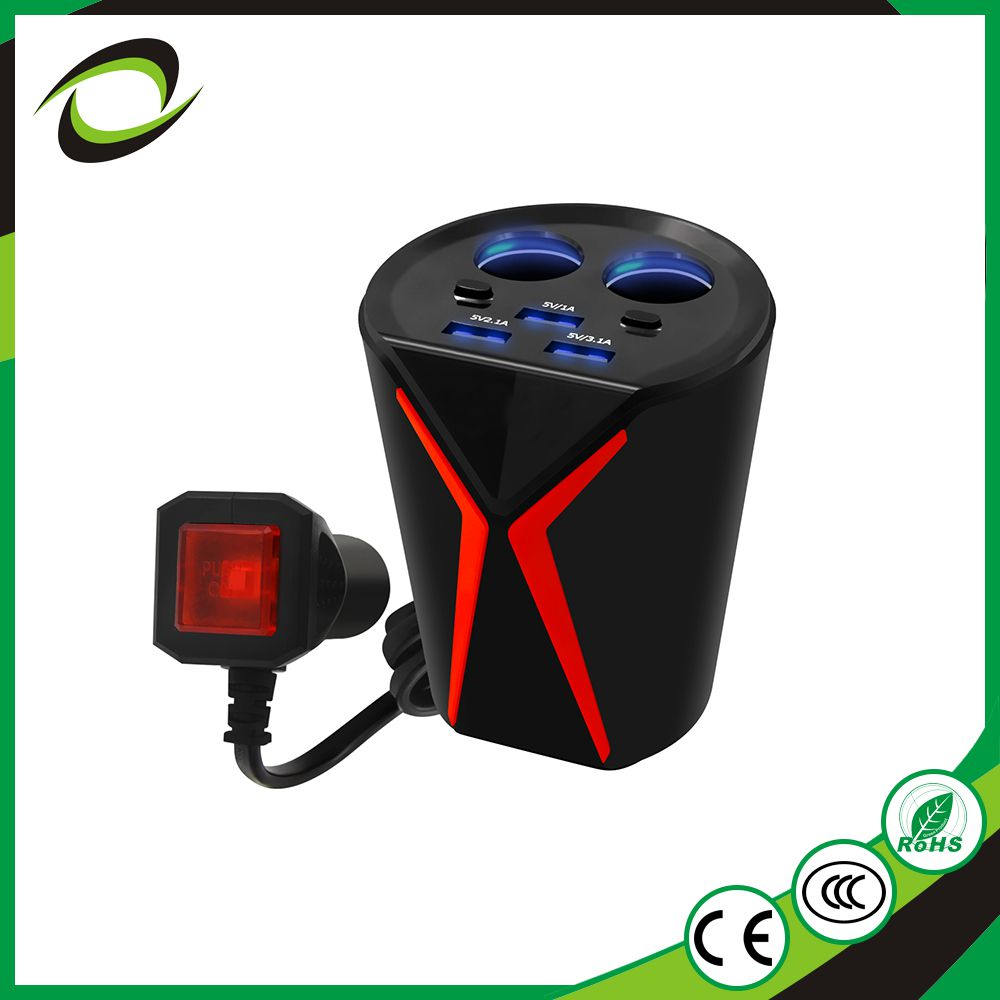 Popular fashionable design 5V 2.4A 9V 2A 12v/1.5a portable car chargers