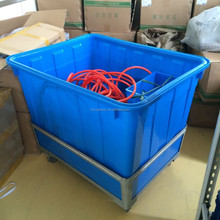 300L Large plastic Laundry garment crates container