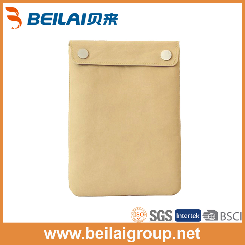 China promotion recycle tywek kraft paper tablet PC protect bag mini computer sleeve