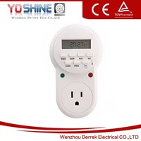 USA Series Electronic Programmable Timer Switch Weekly Digital Timer (White)