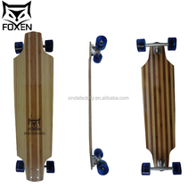 customized 38*9.85 inch bamboo and glass fiber mixed complete skateboard