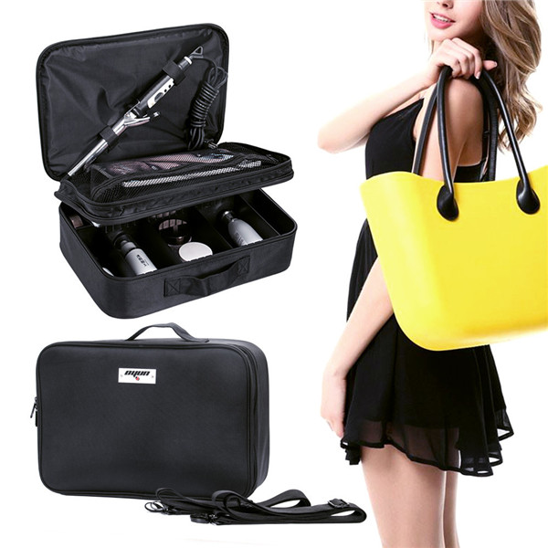 Classic Portable PU leather Bag Beauty Bag with mirror