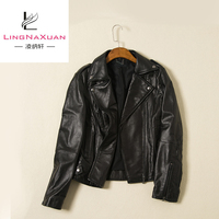 Hot Sale Fashionable Leather Black Sexy Jacket for Women