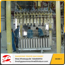 Fully automatic gypsum block producing machinery