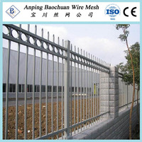 Electro static spray galvanized white picket fence (Hebei)