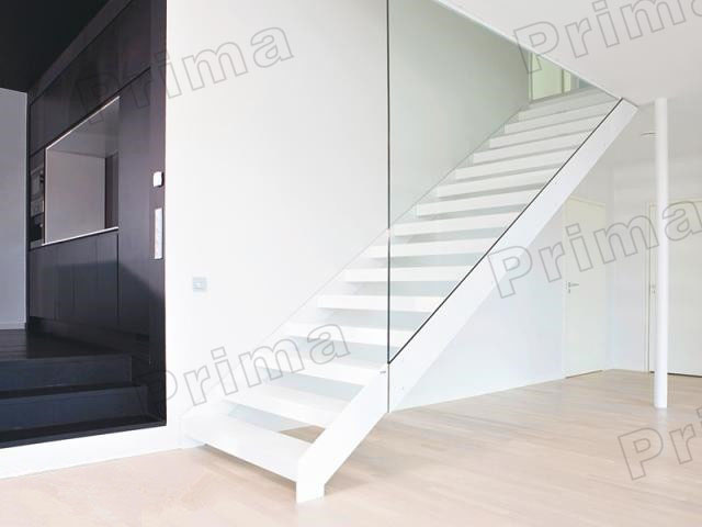 House Stairs For Villa Design Indoor Wood Steel Staircase