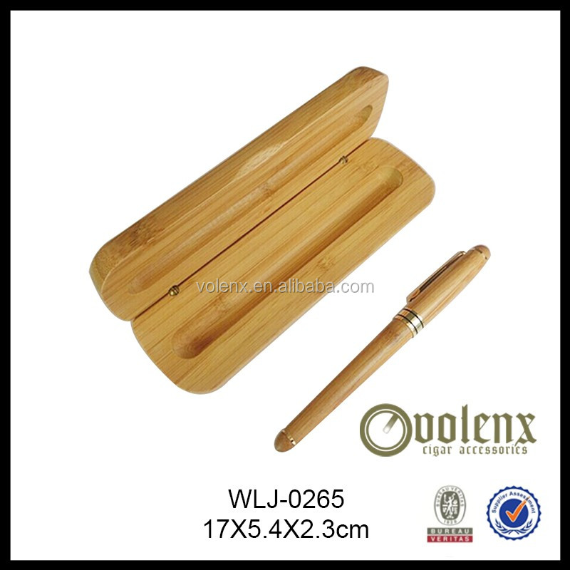 Wholesale Bamboo Pen Box With Custom Logo