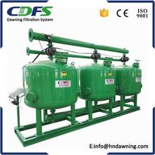Continously back flush water sand filter