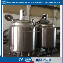 Steam Heating Stainless High Pressure Vessel