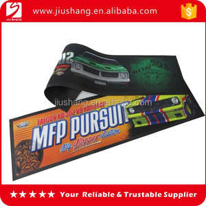 Bar accessory anti slip nitrile rubber desk bar mat with logo for sale