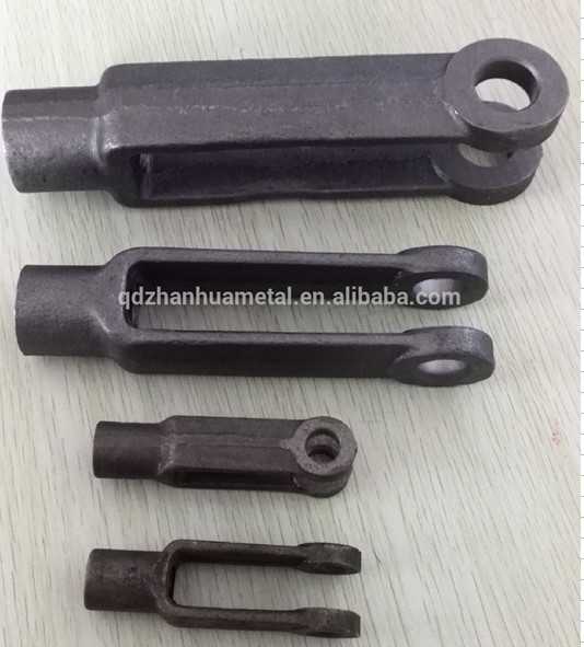 Metal drop forged yoke ends