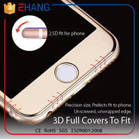 Hot new products 2016 soft pet+electroplate 9h tempered glass screen protector