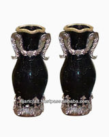 Wholesale 20 Inches Heaight Silver Decorative Antique Black Vase