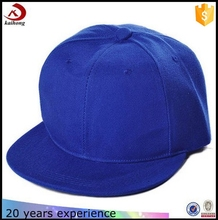 Hot Sale Wholesale Cheap Custom Any Color Blue Blank Snapback Cap