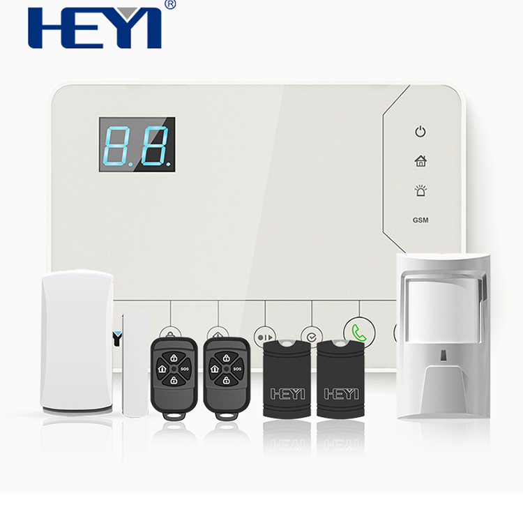 Home Automation Burglar Security GSM Alarm System with RFID Card Wireless Wired Zones