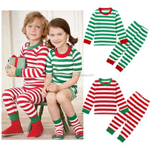 2017 New style Factory price Christmas children boutique pajamas outfit