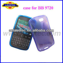 For BB 9720, s line tpu gel soft case for blackberry 9720