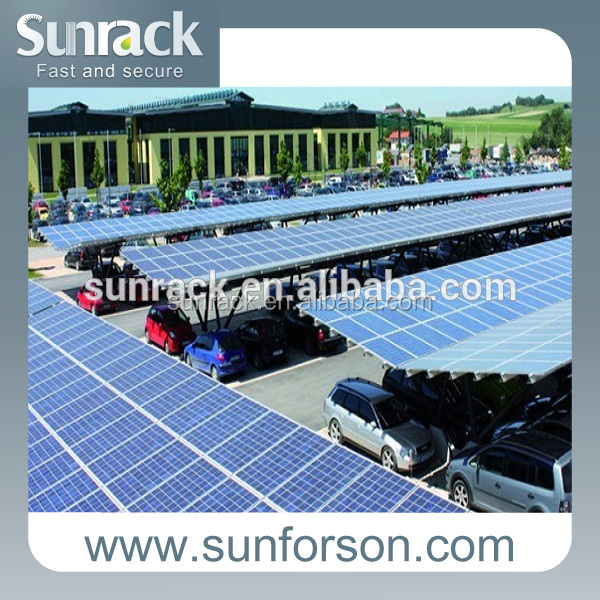 solar panel carport support mounting , solar car roof frame