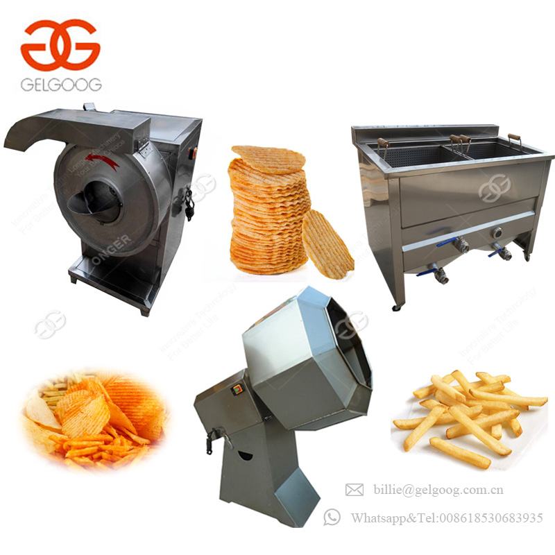 Multifunctional French Fries Making Plant Cost Potato Chips Manufacturing Machine