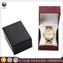 Pretty watch paper box customized special embossing paper