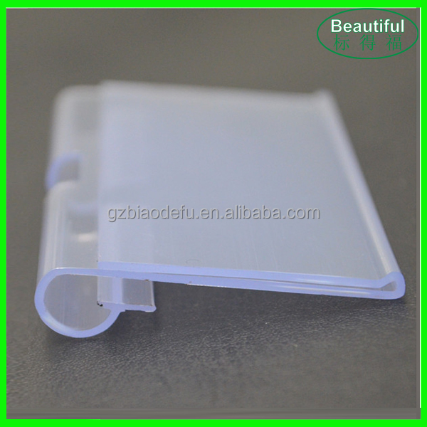 Supermarket Acrylic Price Tag Display Plastic Price Holder
