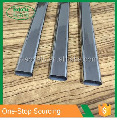 Shopfitting Oval Metal clothing hanging rail steel pipe tube