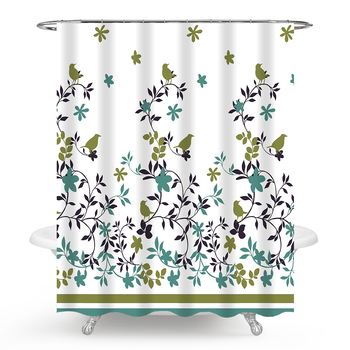 Simple Planet Design PEVA Shower Curtain 72 x 84 inch