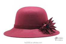 girls fedora Dome dress caps felt wool Bowler hats