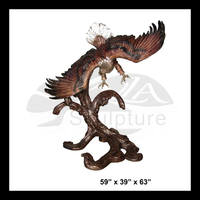 High Quality brass llano eagle sculpture