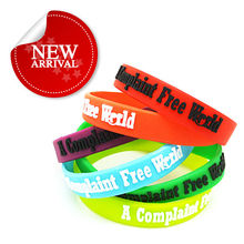 Custom Promotion Cheap Event Sport Embossed LOGO Silicone Wrist Band