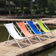 Outdoor Patio Garden Aluminum Folding Mesh Lounger Chair For Hotel Swimming Pool