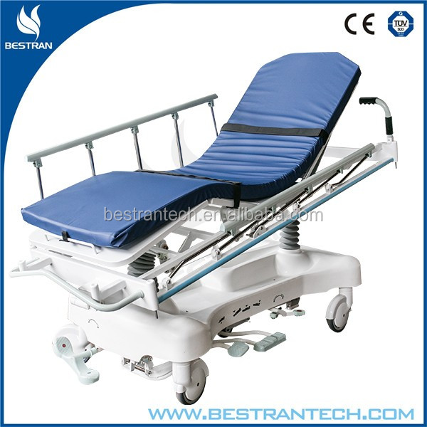 BT-TR001 CE/ISO manufacturer sale hospital medical emergency trolley hydraulic ambulance stretcher price