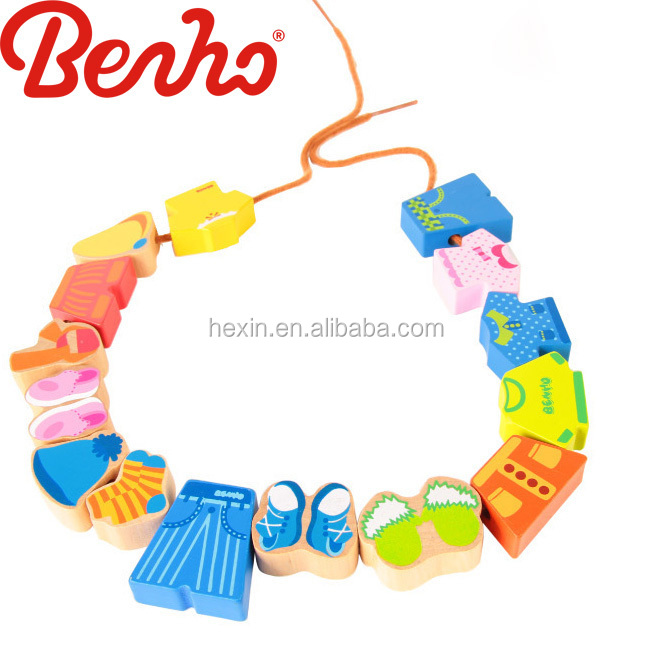 Clothes Beads Wholesale Colorful Creative Wooden Baby Toys