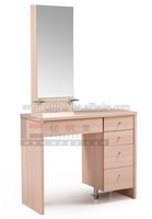 Modern dressing table with mirrors & cupboard in bedroom