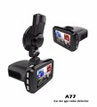 Wholesale price 1296p car dvr dash camera radar detector A77 with gps full band detection 3 in1