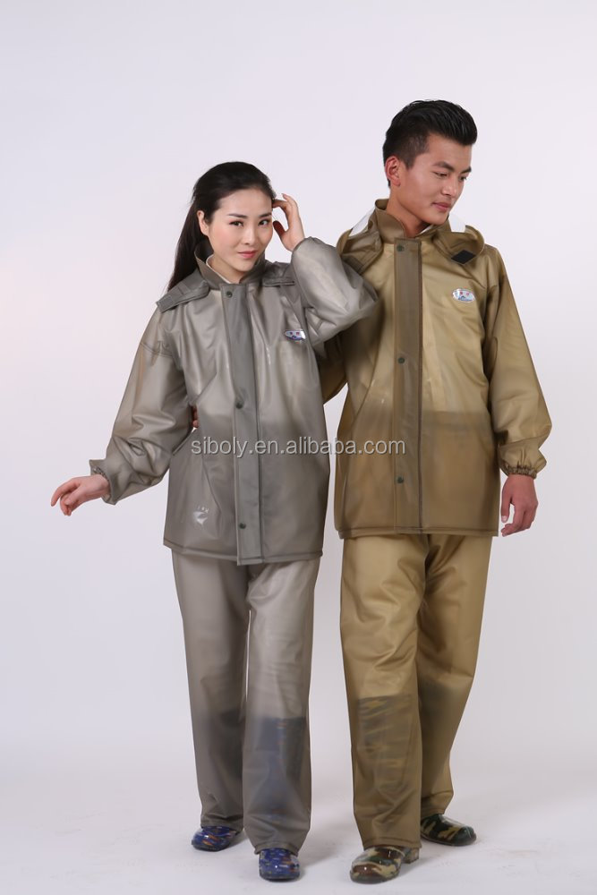 2016 latest design New style Clear Plastic Rain coats ladies or men plastic raincoats Women Rain coat