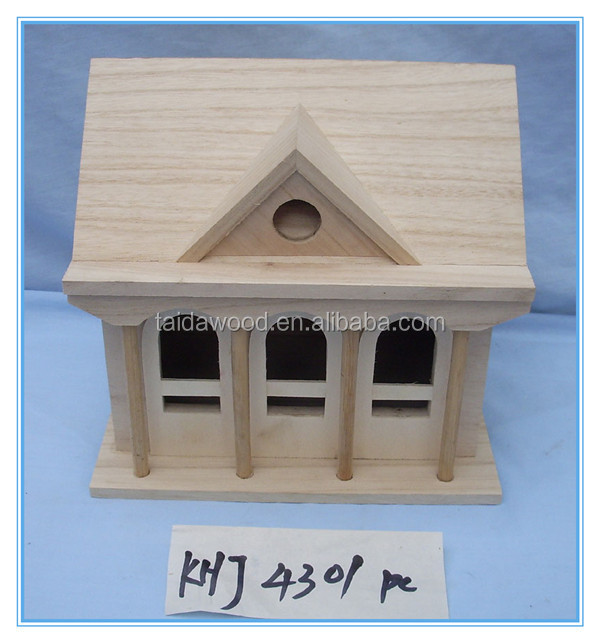 cheap bird house house shape wooden bird house