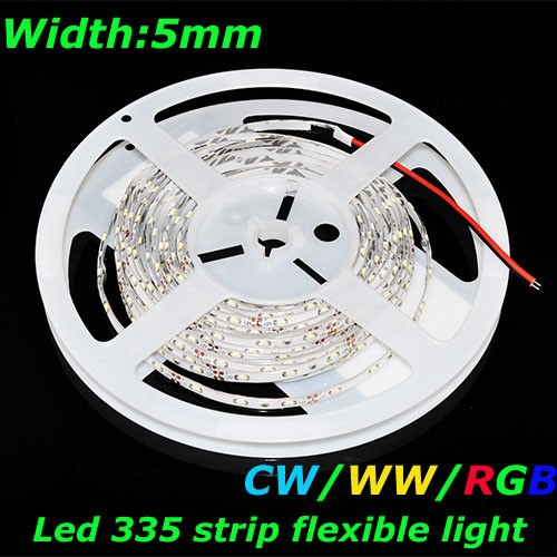 DC12V 5mm 300leds 24W Cool White Color IP65 Led 335 Ribbon Strip