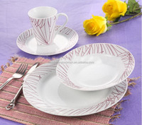 16pcs new bone China products dinnerware with beautiful flower decal