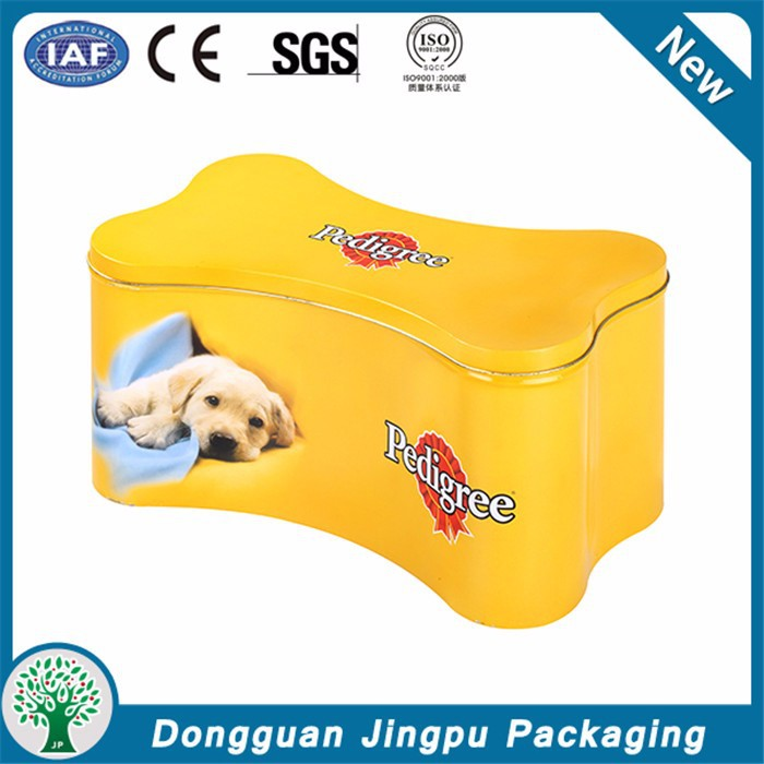 Quality And Quantity Assured Logo Customized Dog Bone Shaped Tin Box