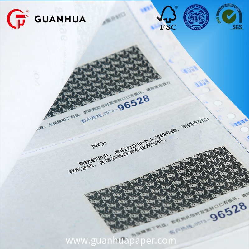 Factory supply high sensitive continuous computer paper 381mm