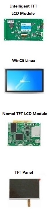 "10.4"" LCD display with capacitive touch screen controlled by any mCU with RS232 RS485 TTL port"