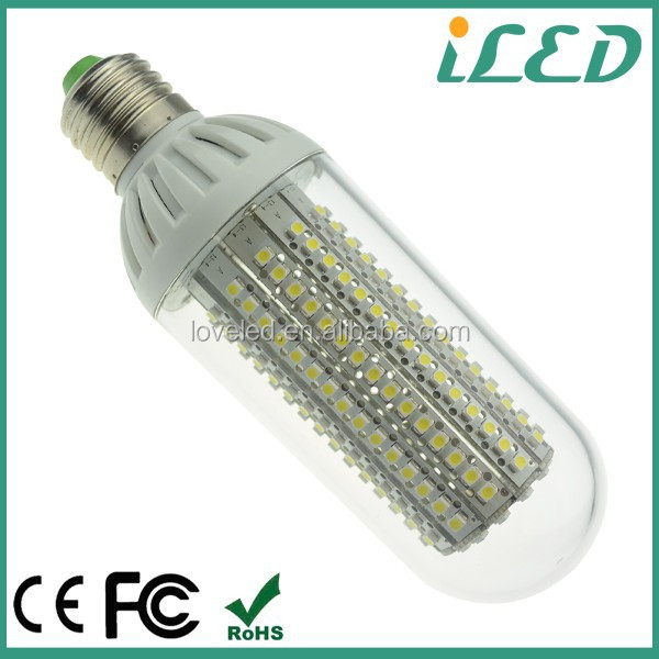 CE ROHS listed 30w CFL replace glass cover LED 12w 1300lm E27 110V smd led corn bulb