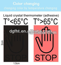 color changing heat sensitive labels