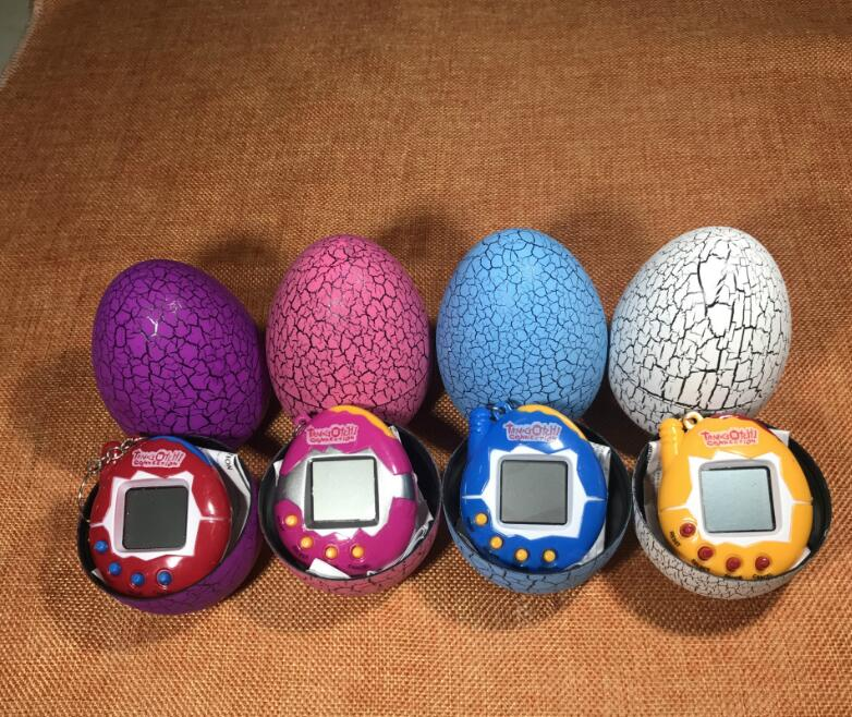 Electronic Pet Toy Children Kid Crack Egg Tumbler Toys Virtual Digital Pet Electronic Games Console for Keychain